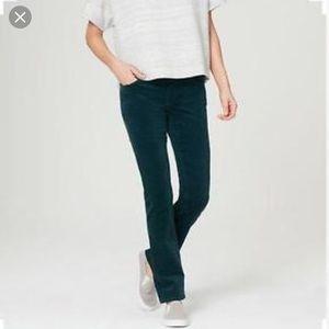 LOFT Modern Straight Turquoise Corduroy Pants